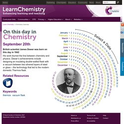 September 20 - On This Day in Chemistry