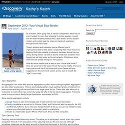 September 2012: Your Virtual Blue Binder