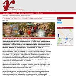 Rudower Septembermeile - Feiern bei Freunden - Hier in Rudow