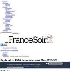 """Septembre 1976: le monde sans Mao - """"Une """" de France Soir"""