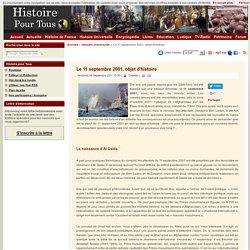 Le 11 septembre 2001, objet d'histoire