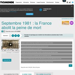 Septembre 1981 : la France abolit la peine de mort