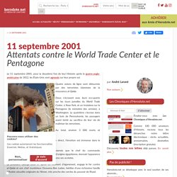 11 septembre 2001 - Attentats contre le World Trade Center et le Pentagone - Herodote.net