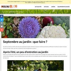 Septembre au jardin : que faire ?