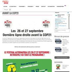 Les 26 et 27 septembre, dernière ligne droite avant la COP21