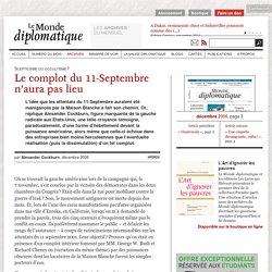 Le complot du 11-Septembre n'aura pas lieu, par Alexander Cockburn