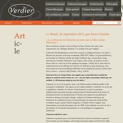 Entretien avec P. Boucheron-Le Monde, 26/09/15