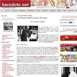 18 septembre 1981 - La France abolit la peine de mort