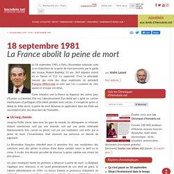18 septembre 1981 - La France abolit la peine de mort - Herodote.net