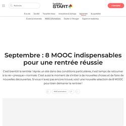 Septembre: 8 MOOC indispensables pour une rentrée réussie