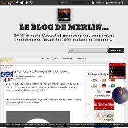 le 11 septembre à la lumière des nombres... - Le blog de Merlin...