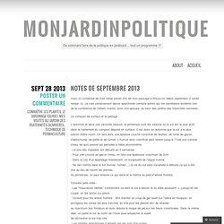 notes de septembre 2013