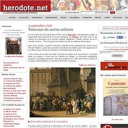 5 septembre 1798 - Naissance du service militaire