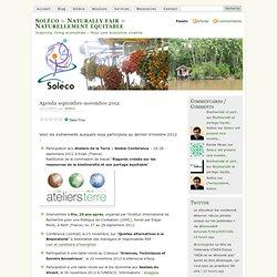 Agenda septembre-novembre 2012