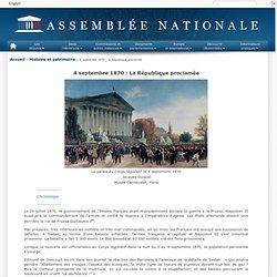 4 septembre 1870 : la République proclamée