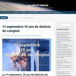11 septembre 15 ans de théorie de complot