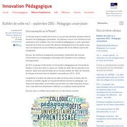 Bulletin de veille no.1 - septembre 2015 - Pédagogie universitaire