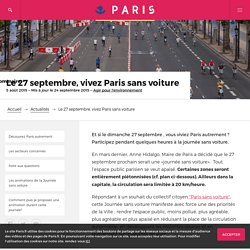 PARIS sans voiture - Le 27 septembre, vivez Paris sans voiture – Paris.fr