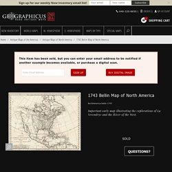 Carte de L'Amerique Septentrionale Pour servir a L'Histoire de la Nouvelle France.: Geographicus Rare Antique Maps