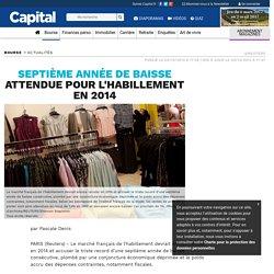 Septième année de baisse attendue pour l'habillement en 2014