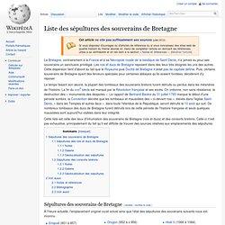 Sépultures des souverains de Bretagne
