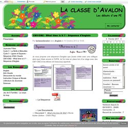 CM1/CM2 - What time is it ? - Séquence d'Anglais - La classe d'Avalon