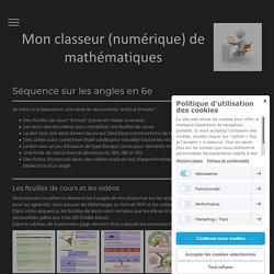 Séquence sur les angles (6e) - Mon classeur de maths