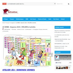 LE VERBE : Séquence JEUX / ATELIERS et activités