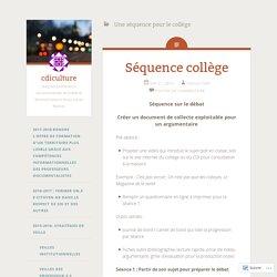 Une séquence pour le collège