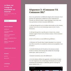 Le Mooc sur l'usage de #connasse sur Internet