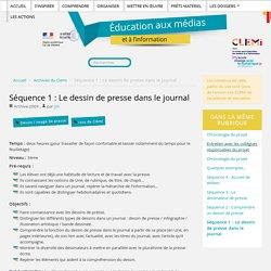 Séance pédagogique: Le dessin de presse dans le journal - Académie de Versailles - CLEMI