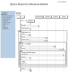Quick Sequence Diagram Editor - Example
