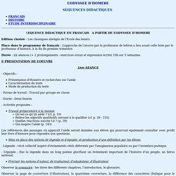 SEQUENCE DIDACTIQUE EN FRANCAIS