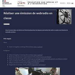 Exemple de séquence pour créer une émission de webradio en direct
