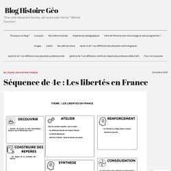 Séquence de 4e : Les libertés en France