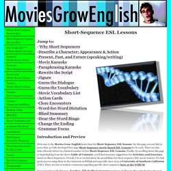 Short-Sequence ESL movie lessons