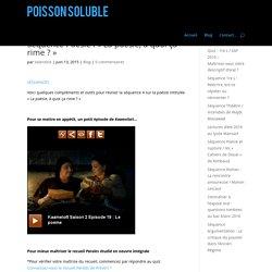 Séquence Poésie : « La poésie, à quoi ça rime ? »