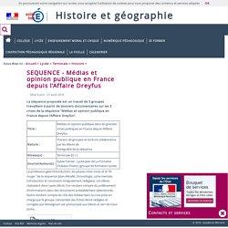 SEQUENCE - Médias et opinion publique en France depuis l'Affaire Dreyfus
