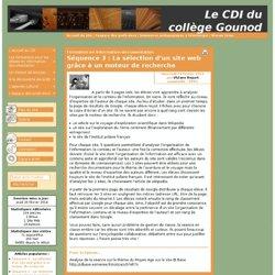 Séquence 3 : La sélection d'un site web grâce à un moteur de recherche