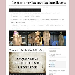 Le mooc sur les textiles intelligents