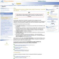 Séquence transition collège-lycée, projet e-twinning : le portrait (Así soy yo)- Espagnol
