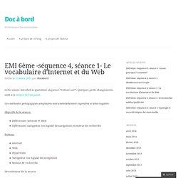 EMI 6ème -séquence 4, séance 1- Le vocabulaire d'Internet et du Web