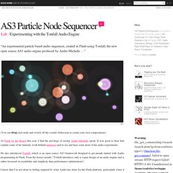 AS3 Particle Node Sequencer › Experimenting with the Tonfall Audio Engine