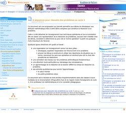 8 séquences pour résoudre des problèmes au cycle 3- Pédagogie - Direction des services départementaux de l'éducation nationale du 16