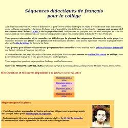 séquences didactiques