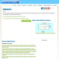 Mathsframe: 170+ quality interactive maths games for KS2 - Sequences