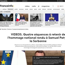 VIDEOS. Quatre séquences à retenir de l'hommage national rendu à Samuel Paty à la Sorbonne