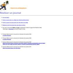 Séquences pédagogiques - Réaliser un journal