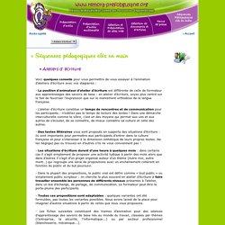 Séquences pédagogiques clés en main : Atelier d'écriture