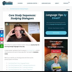 Core Study Sequences - Textbook Dialogues